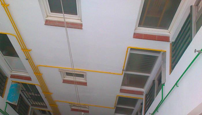 Pintura de patios de luces, rehabilitación de patios de luces, reforma de patios de luces